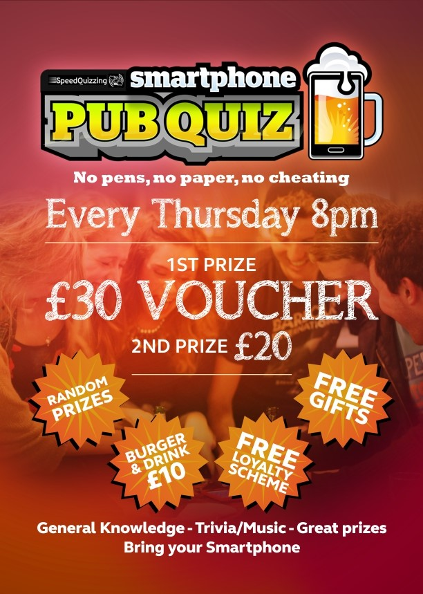 Pub Quiz | Cookhouse Liverpool